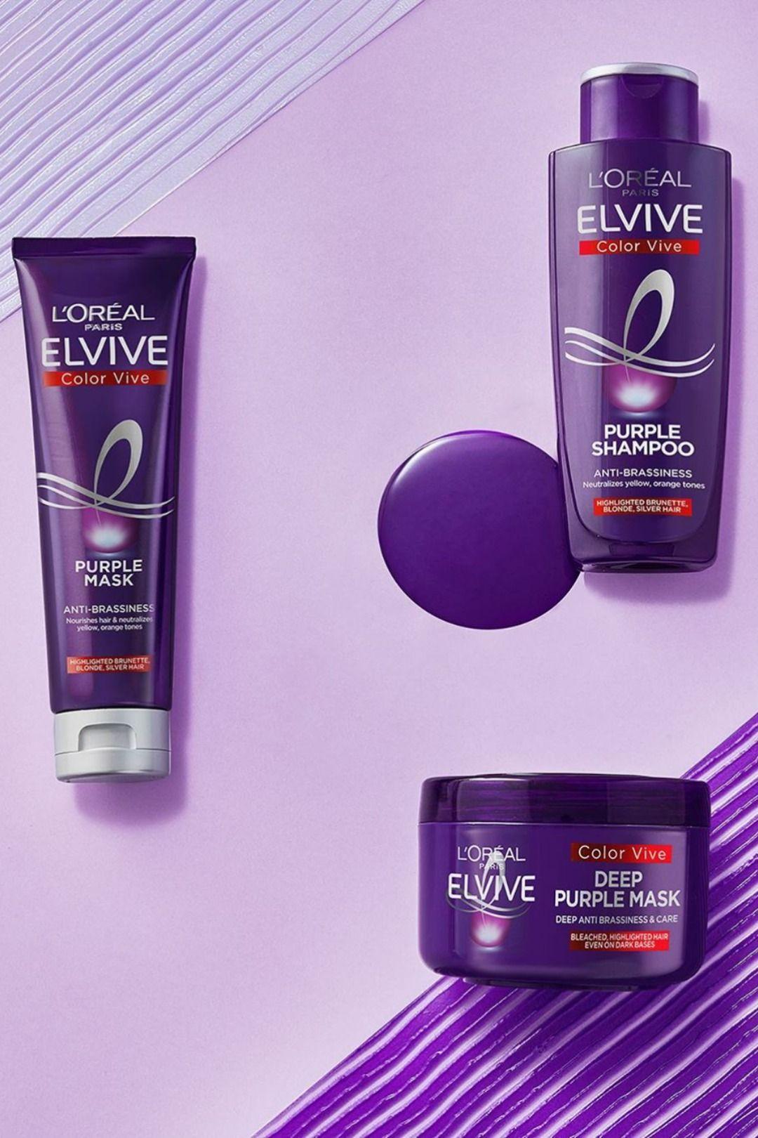 L Oreal Elvive Colour Protect Anti Brassiness Purple Mask 250ml Purple Shampoo Loreal Purple Toner
