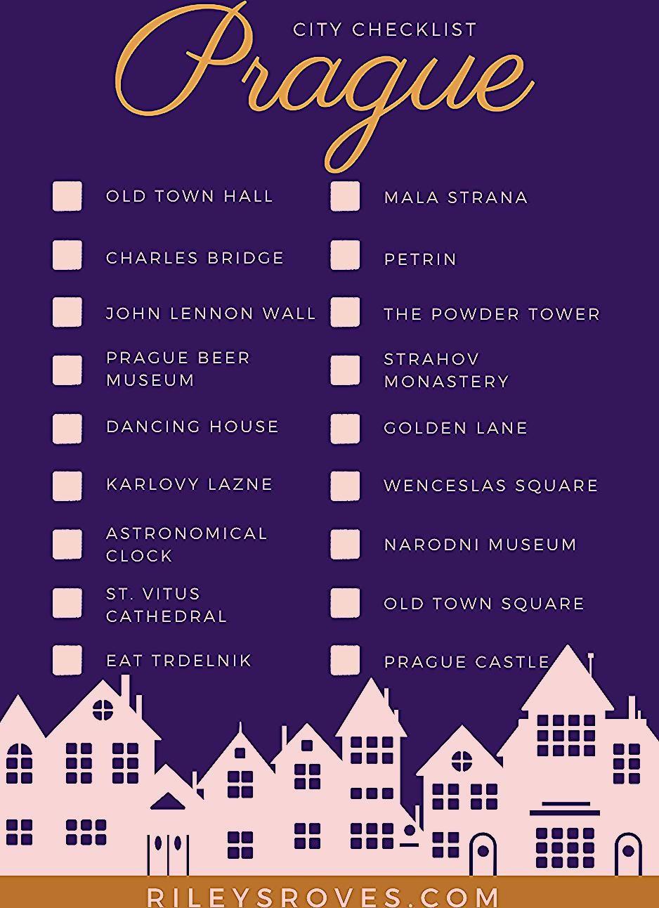 Checkliste für Prag, Tschechische Republik