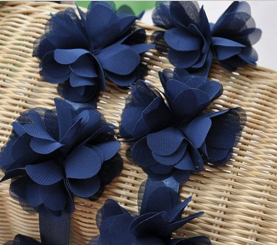 Navy Blue Chiffon Leaves Wedding Dress Lace Trim Diy Fabric Crafts Alterations Supplies Fashion And Grace Dark Blue Flowers Rose Flower Diy Fabric Crafts