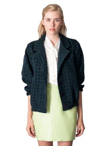 American Apparel Houndstooth Jacquard Woven Jacket $40.00