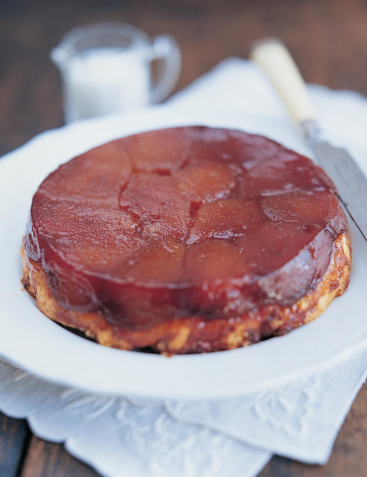 classic tarte tatin the happy foodie recipe desserts sweet pie french dessert recipes pinterest