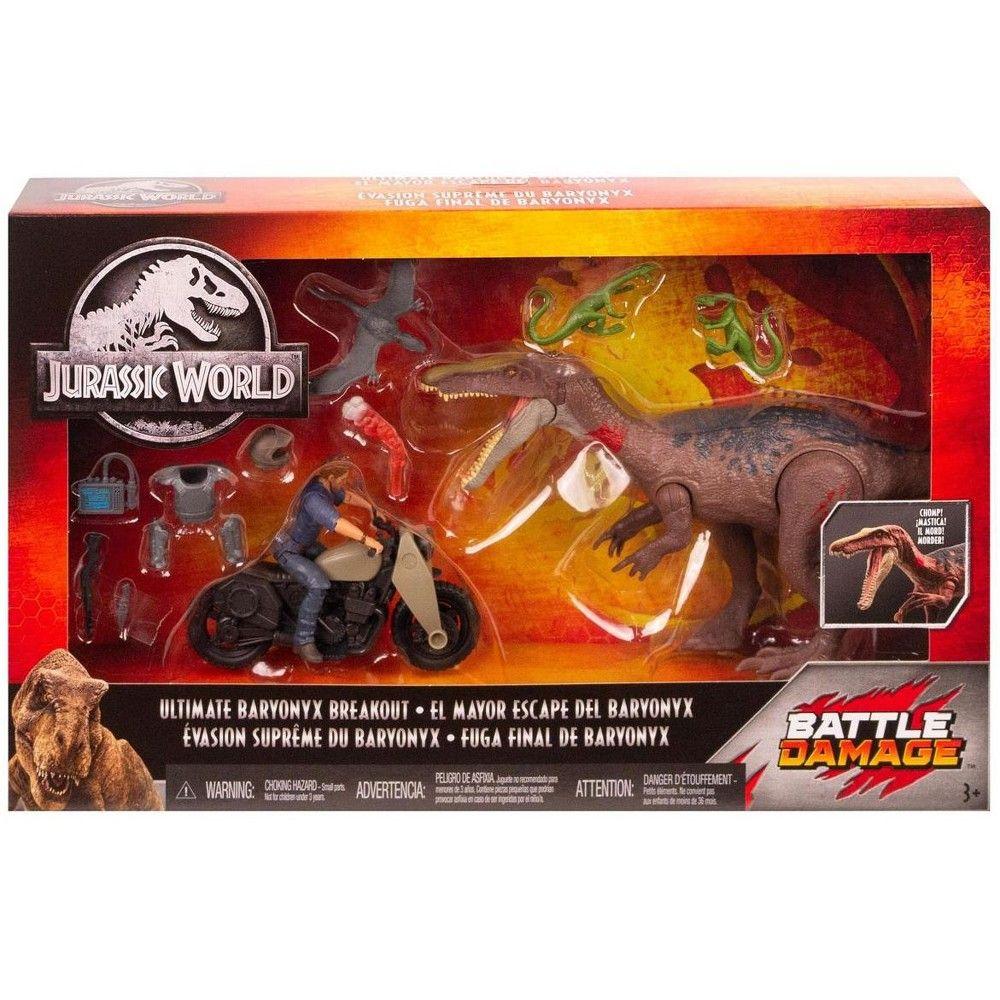 Jurassic World Battle Damage Ultimate Baryonyx Breakout Jurassic Park Mattel NEW