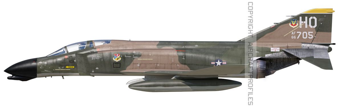 F 4D Phantom 8th Tactical Fighter Squadron 1976