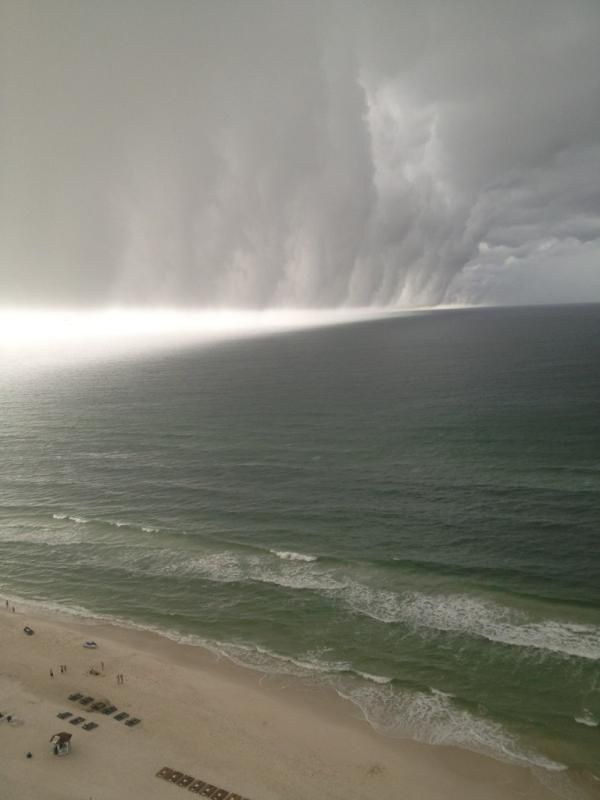 a wall cloud in panama city beach florida on wall cloud id=99656