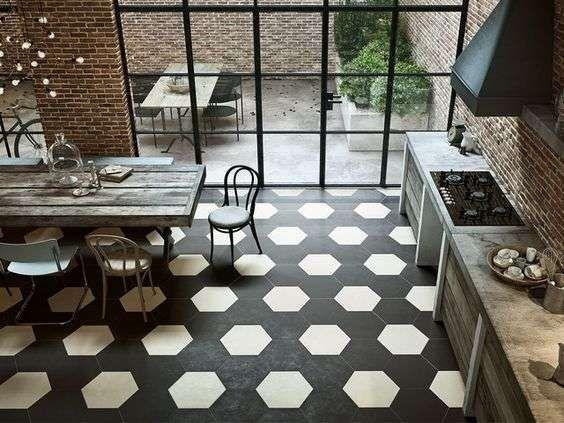 Cementine esagonali in cucina tiles cucina