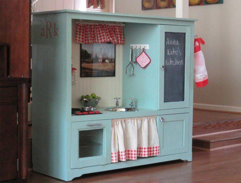 Cuisine Enfant Bois Idées Pour Surprendre Votre Petite - Cuisiniere bois pour idees de deco de cuisine