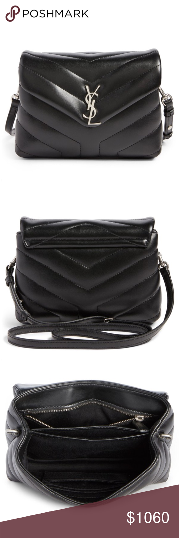 8a0bc1bef4ef YSL Toy LouLou Calfskin Leather Crossbody Bag No Trades Pls. Soft calfskin  leather with w