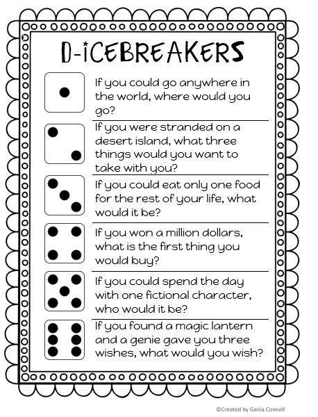 D Icebreaker For Back To School K 2 Terrific Teaching