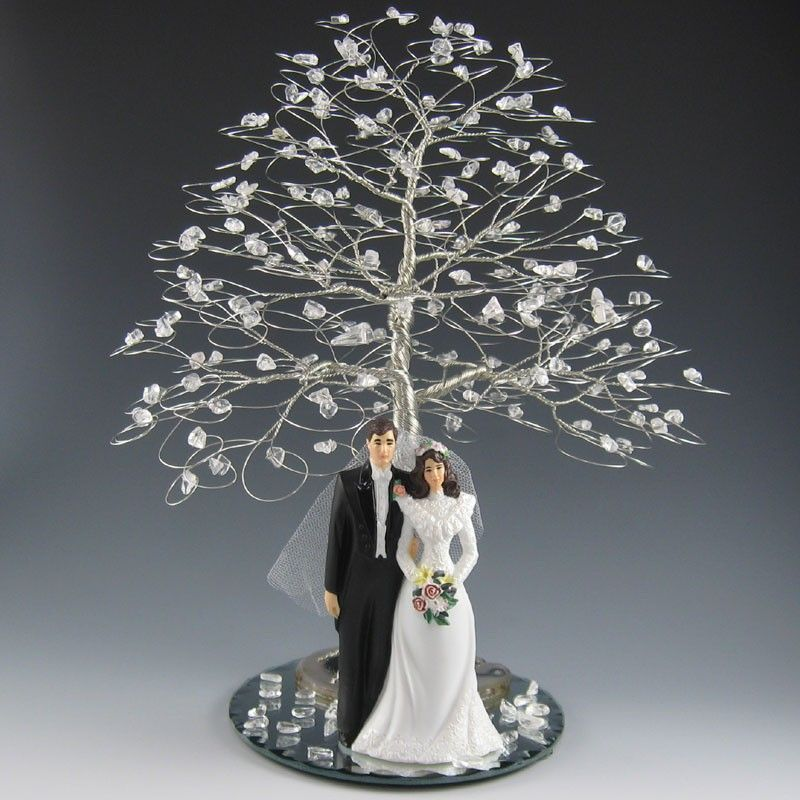 Winter Tree Wedding Cake Topper Or Centerpiece