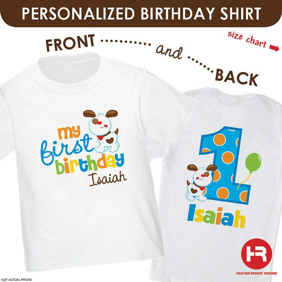 Embroidered Personalised 1st Birthday T Shirt with bear image and name design 7