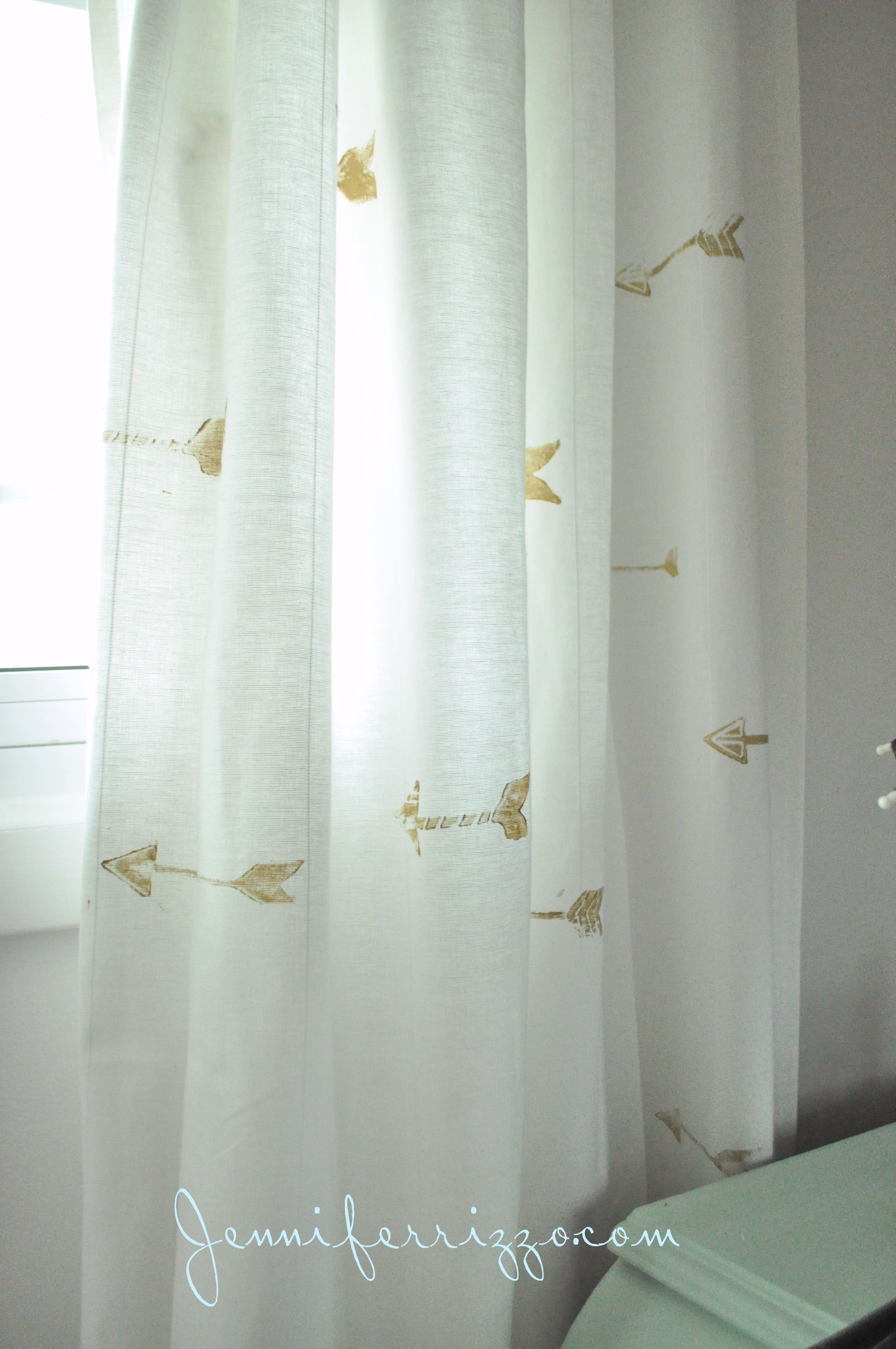 Perfect Hand Stamped Custom Gold Arrow Curtains....   Jennifer Rizzo
