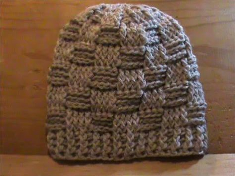Crochet Hat Basketweave Beanie English Youtube