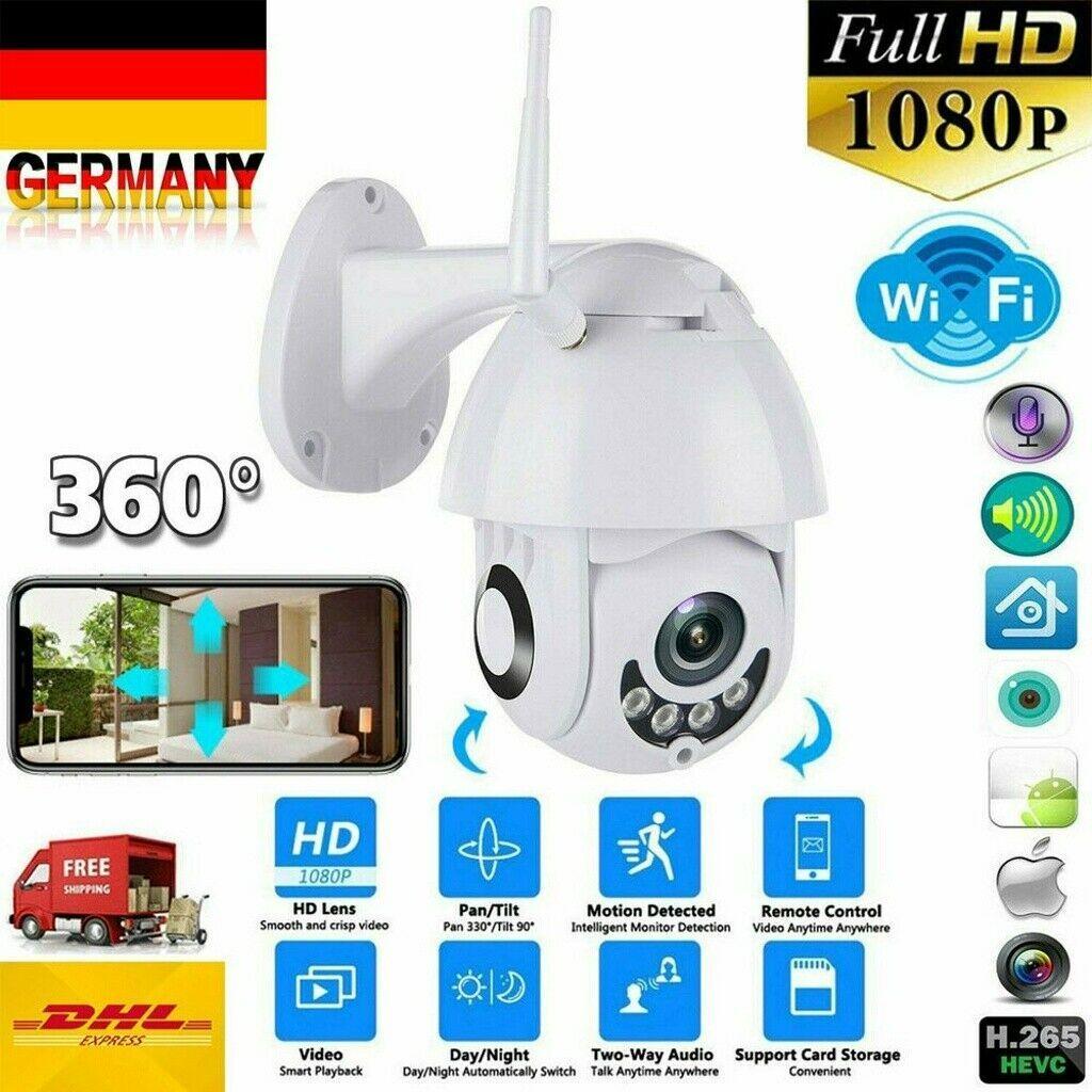 DE 1080P IP Netzwerk Camera Außen Überwachungskamera Outdoor Funk Wlan Dome CCTV