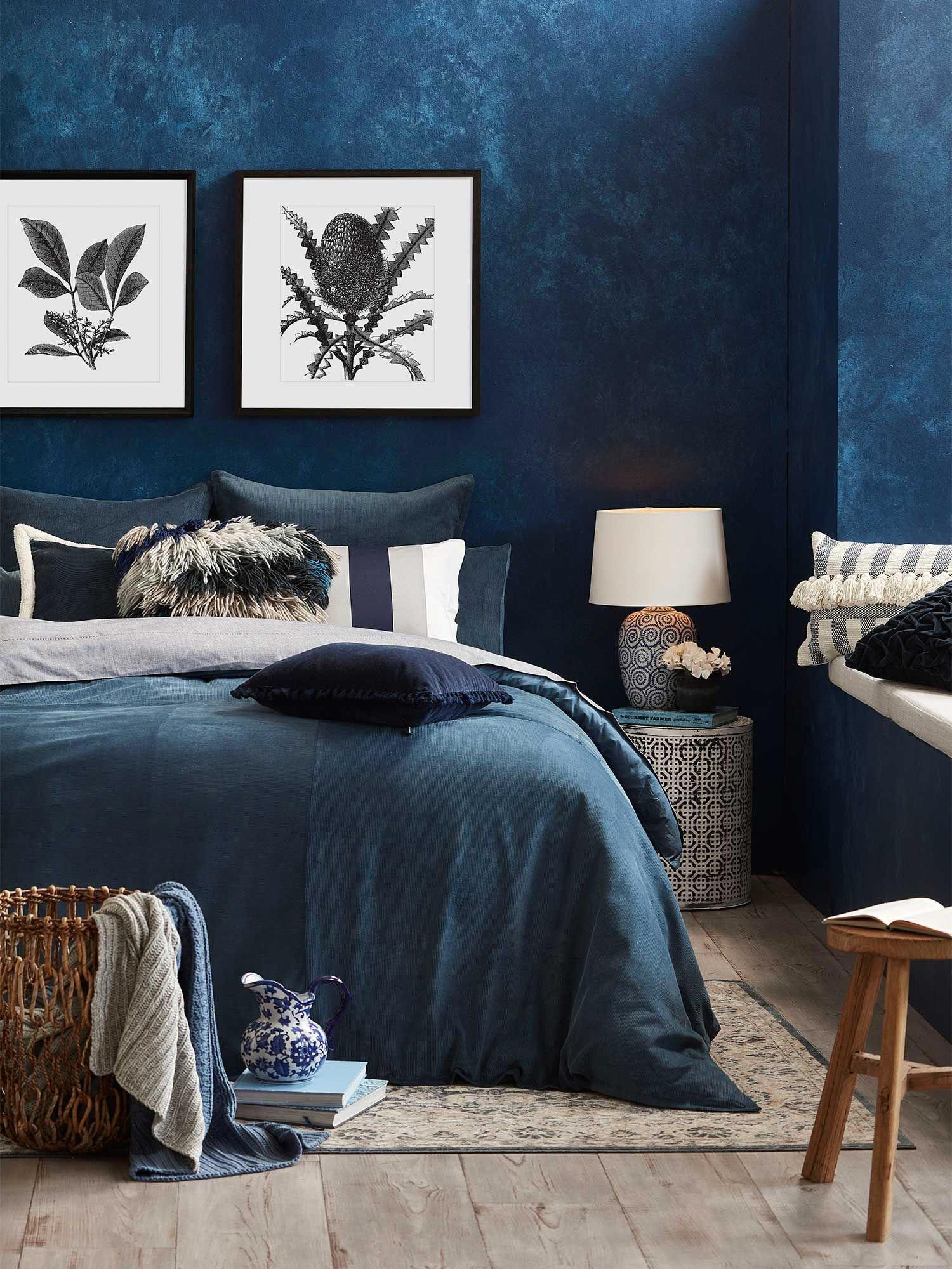 Bedroom Ideas From Comfortable To Truly Amazing Really Cozy To Imaginative Decor Tips To Make A Cl Feature Wall Bedroom Blue Bedroom Walls Wall Decor Bedroom
