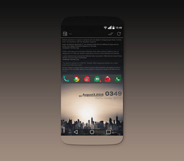 """Launcher Apk on LinkedIn """"Awesome Theme to https"""