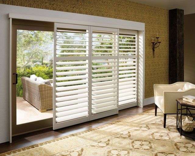 Plantation shutters for sliding glass doors home sweet home pinterest plantation shutter - Plantation shutters kits ...