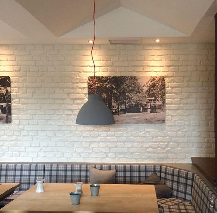 Ladrillo Loft restaurant backstein optik ladrillo loft blanco steinwand
