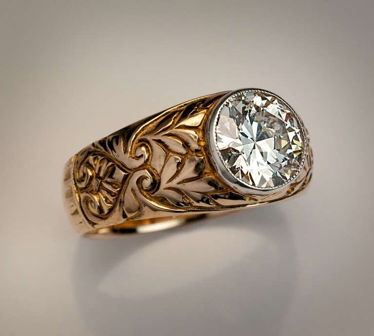 antique russian diamond ring from a unique collection of vintage solitaire rings at http