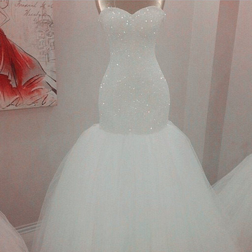 Bling Sequins Beaded Mermaid Wedding Dresses Jd 109
