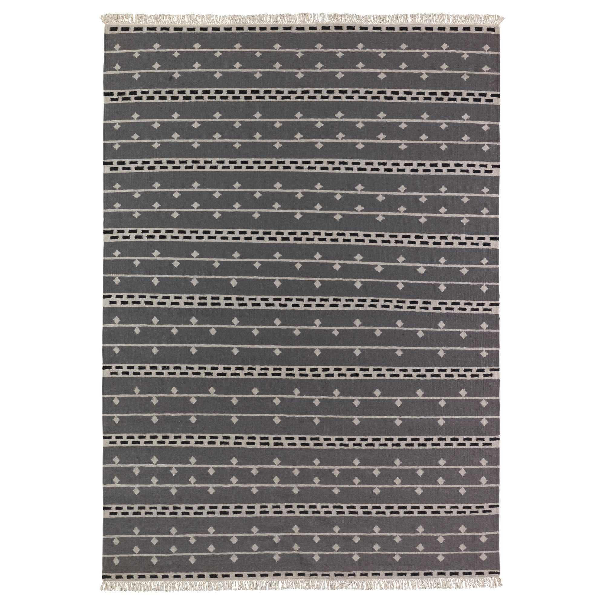 Alvine Rand Rug Flatwoven Gray White Black 199 00