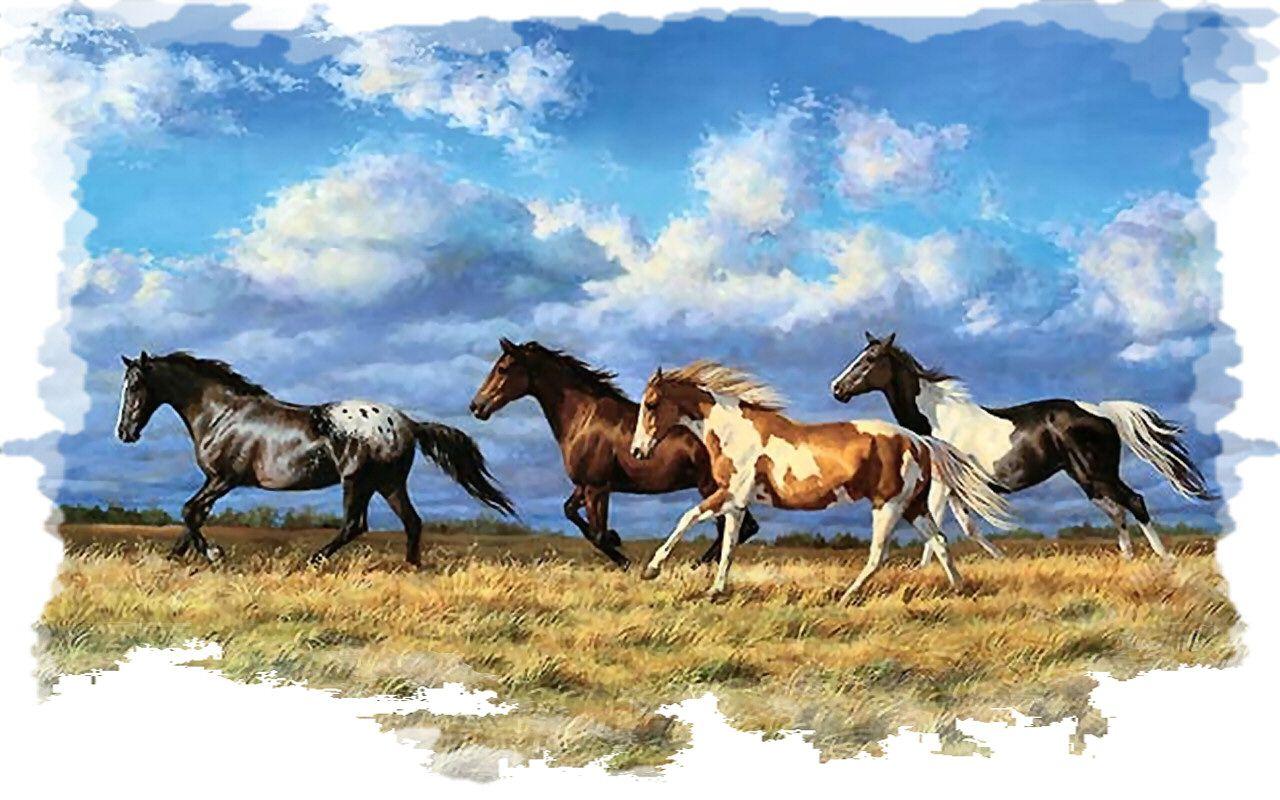 Running Horses Wallpaper Wild horses running, Horses