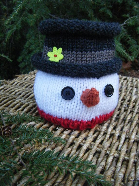 Adorable Snowman Hat And Knit Pattern My Etsy Shop Pinterest