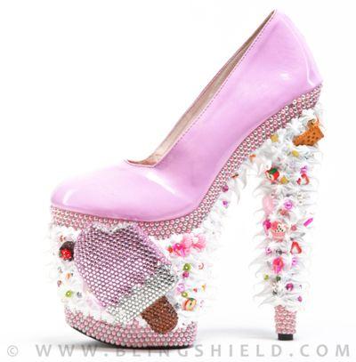 pink ice cream platform heels for casual days