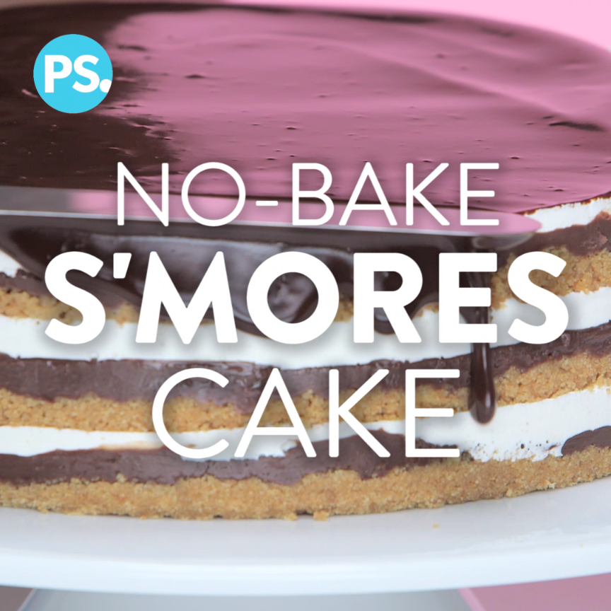 easy no-bake s'mores cake is filled with a rich, toasted marshmallow creme, layers of crunchy graham cracker, and mouth-watering chocolate fudge — also, it's topped with a rich ganache and even more toasted marshmallow! One bite of this cake and you'll love the flavors of Summer all year long.
