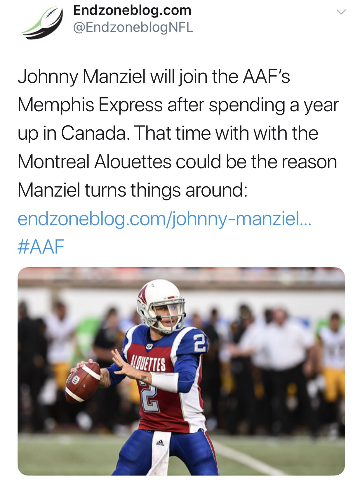 Manziel will join the memphis express football streaming