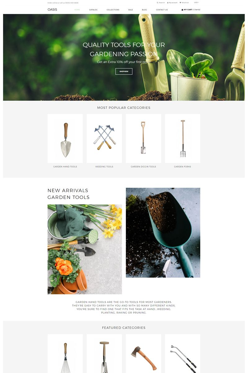 Oasis Gardening E Commerce Clean Shopify Theme Ad Commerce