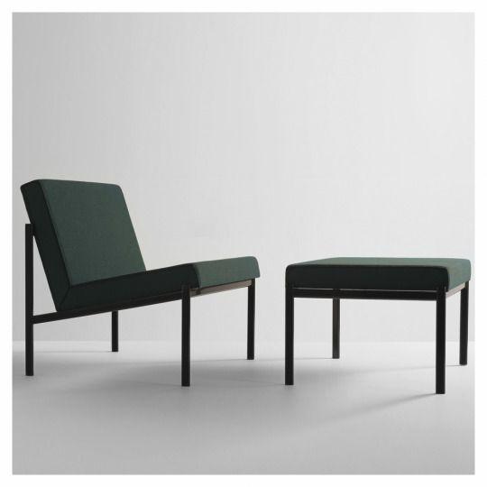 ilmari tapiovaara kiki chair and ottoman for artek upholstered in reflex by raf simons for kvadrat