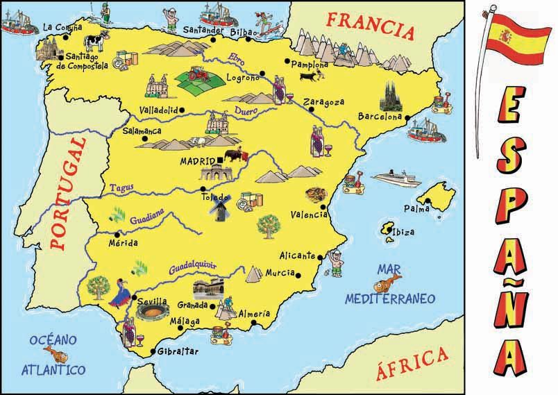 Rivers In Spain Map