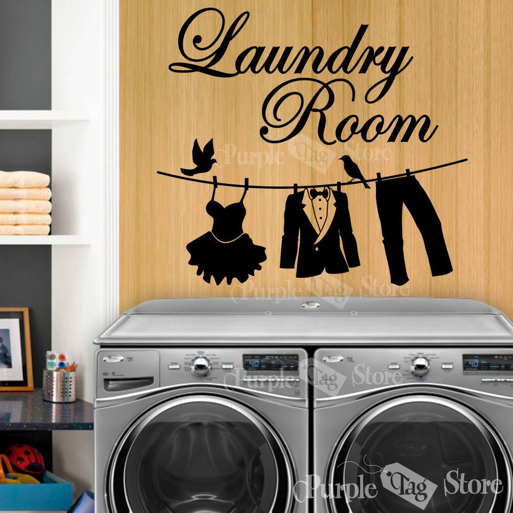 Laundry Room Vinyl Wall Quotes Laundry Room Clothesline Vinyl Art Home Wall Quote Decal Sticker