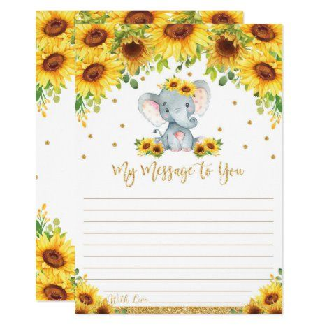 Elephant Time Capsule Message To You Blank Cards #UniqueGiftsIdeas #BirthdayGiftsUnique #PersonalizeGifts #ShopCustomizables