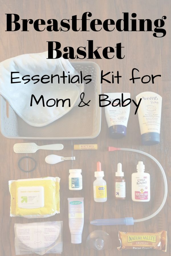 Breastfeeding Kit: A Basket of Essentials for Mom and Baby -