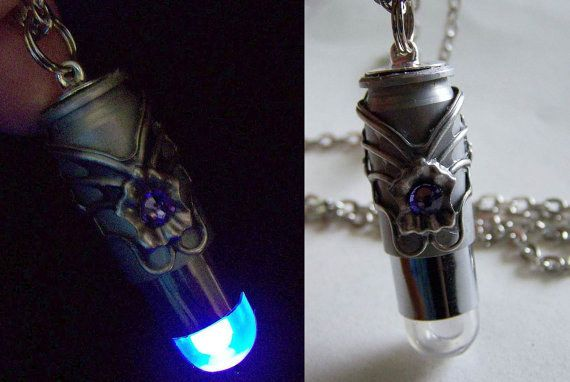 LED Bullet Necklace   33  Insanely Sneaky Pieces Of Jewelry Every Girl Needs  quirky nerdy jewelry