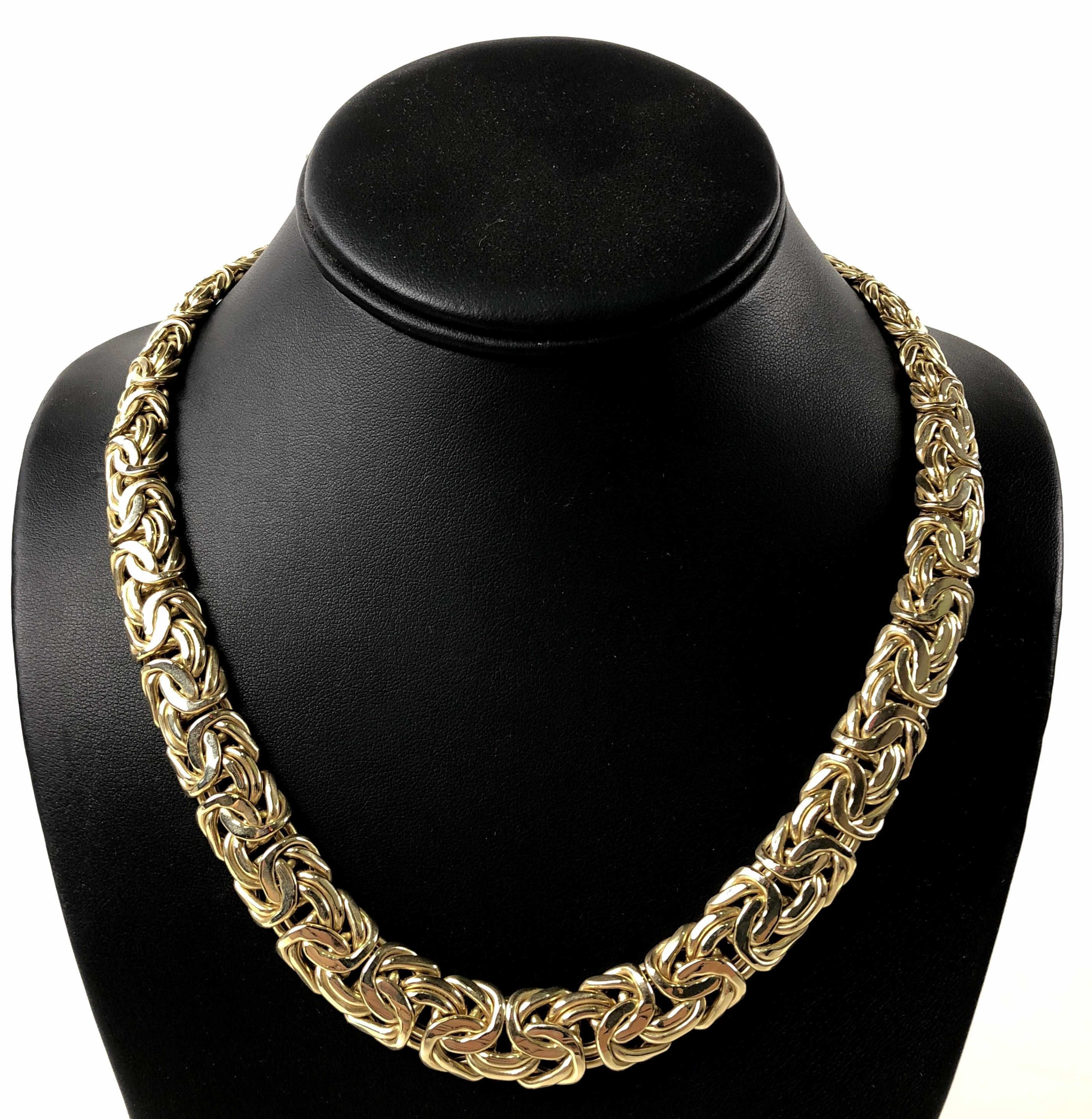 14k Yellow Gold Byzantine Necklace Sold 2 500 Byzantine Necklace Necklace Chain Necklace