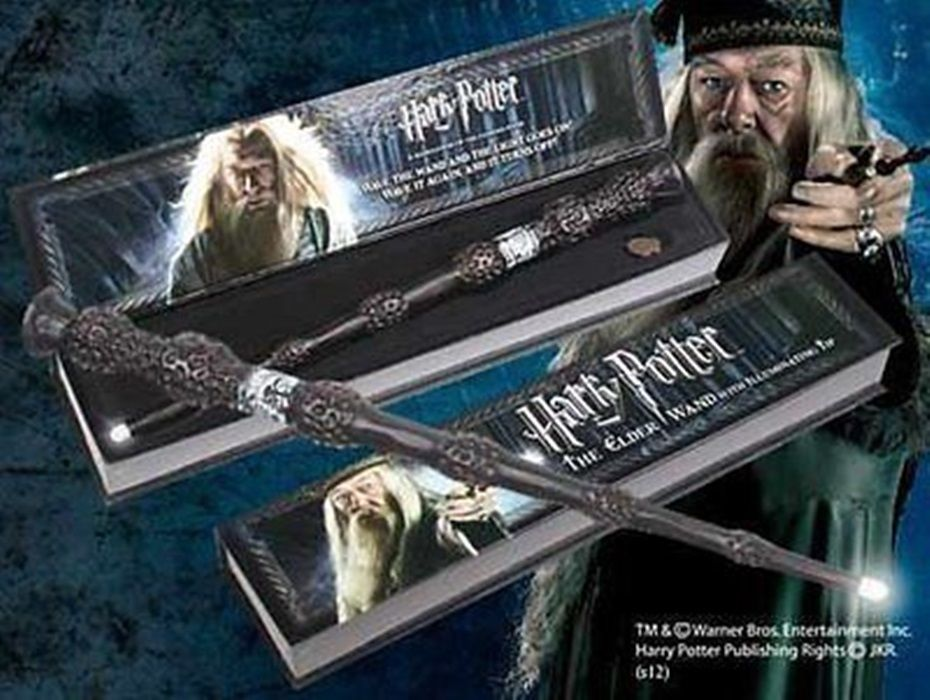 Harry potter toys magic the elder wand dumbledore for Harry potter elder wand replica