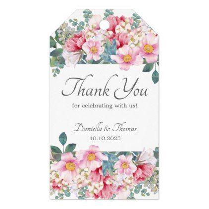Fragrant Garden Elegant Wedding Gift Tags   Classic Gifts Gift Ideas Diy  Custom Unique