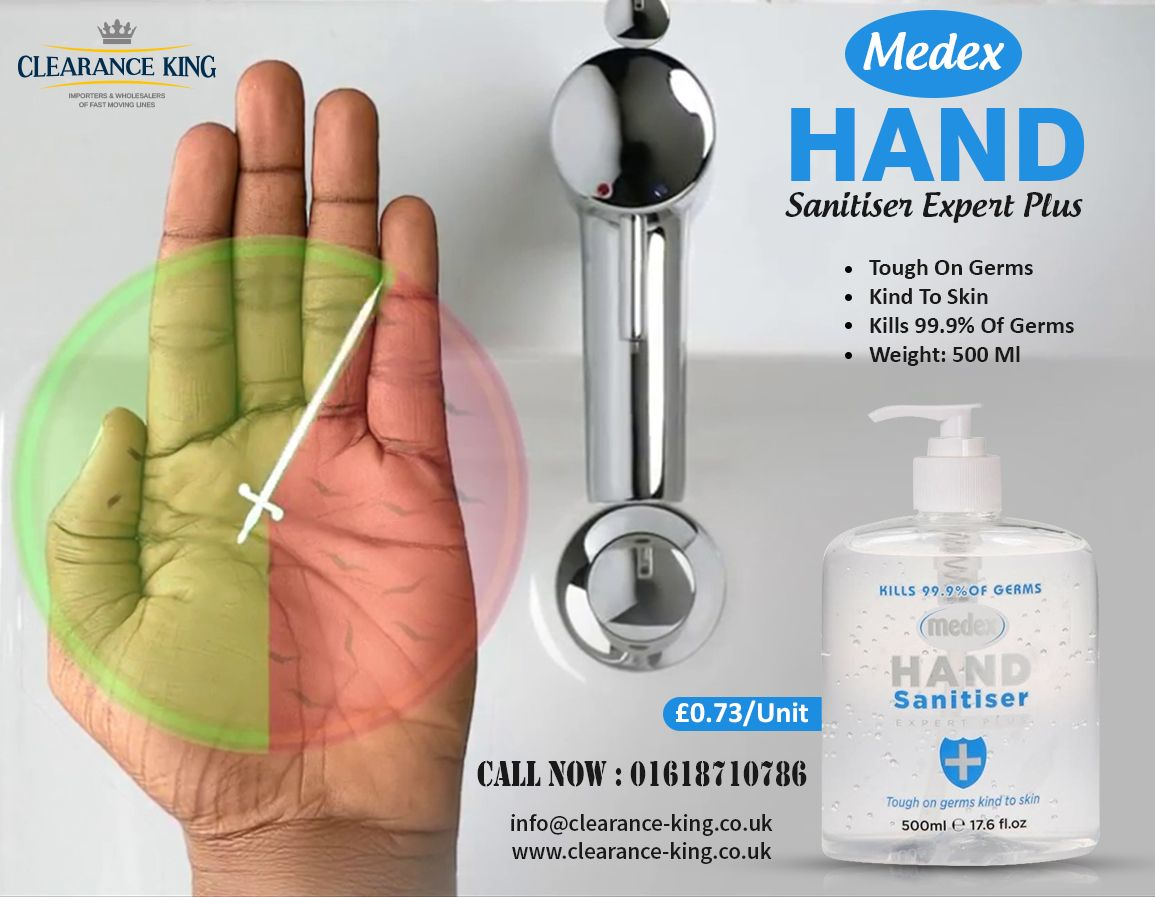 Medex Hand Sanitiser Expert Plus Kills 99 9 Of Germs 500ml