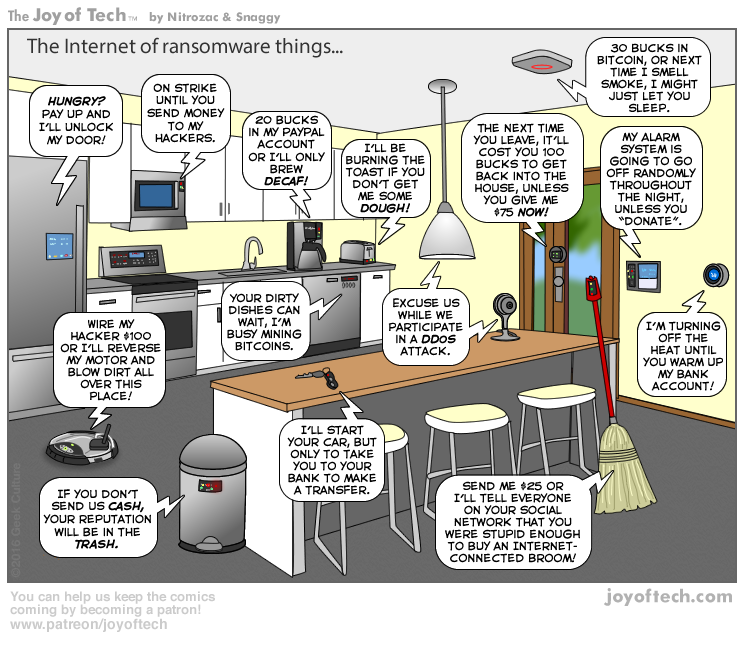 Ransomware A Not So Humorous Look Cyber Security Home Security Tips Iot