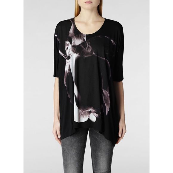 Sale❗ ⬇️AllSaints Decadence Tee •NWT •Color  Ebony •The highest quality  viscose jersey sourced in Europe delivering luxurious feel and effortless  drape. 44cdb37eb