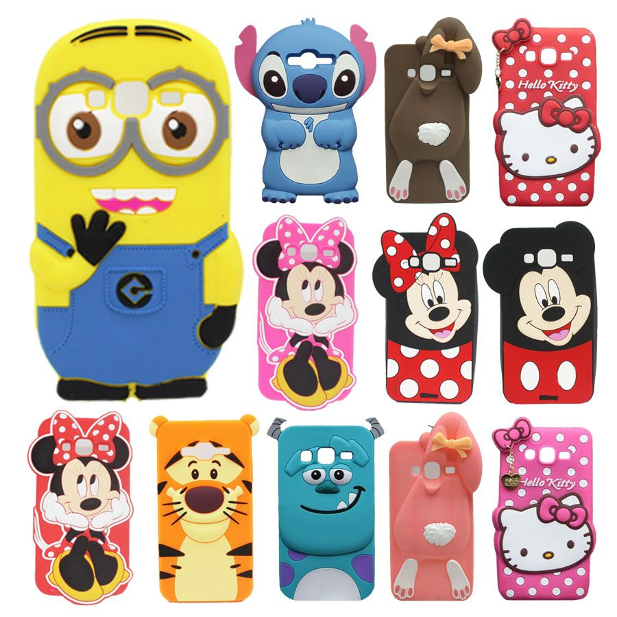 For Samsung Galaxy J3 2016 Case J320 J320f Minion Stitch Minnie Ultrathin Iphoria Shining Xioami Redmi 4 Prime Silver Mickey Hello Kitty Soft Silicone Phone Cover Click On The