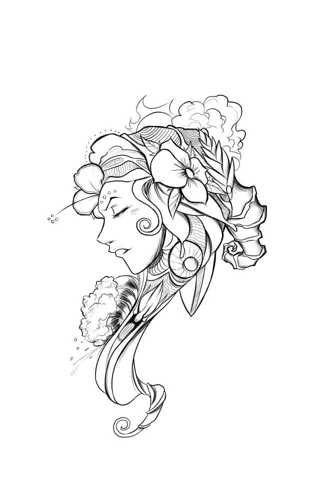Artwork by Brandon Boyd of Incubus (possibly a new tattoo ...