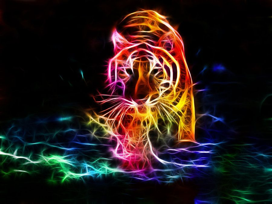 tiger fractal cats e - photo #26
