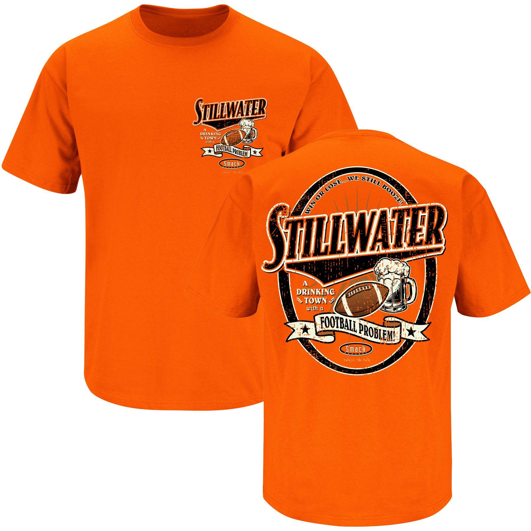 Stillwater Drinking Town Rivals Fanwear Orange t shirts