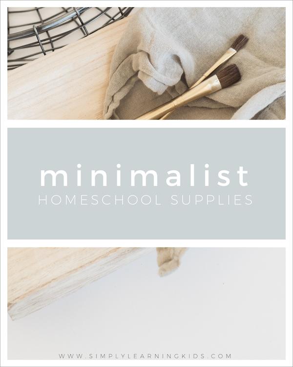 Minimalist Classroom Worksheets ~ Minimalist homeschool supplies homeschooling pinterest