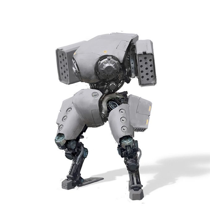 Robot Concept Art by Igor Kieryluk