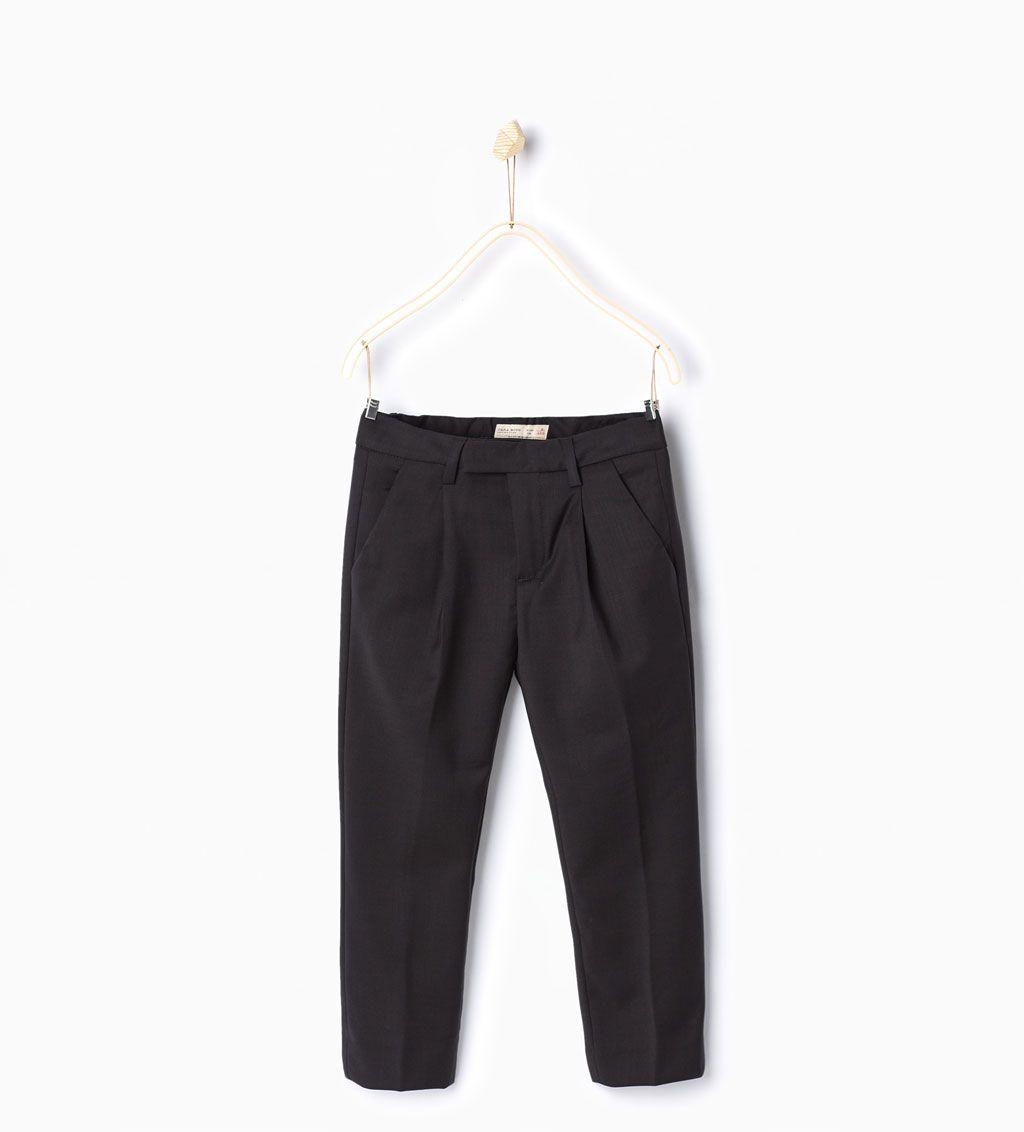 Pantalon Traje Formal Pantalones Nino 4 14 Anos Ninos Kids Suits Zara Trousers