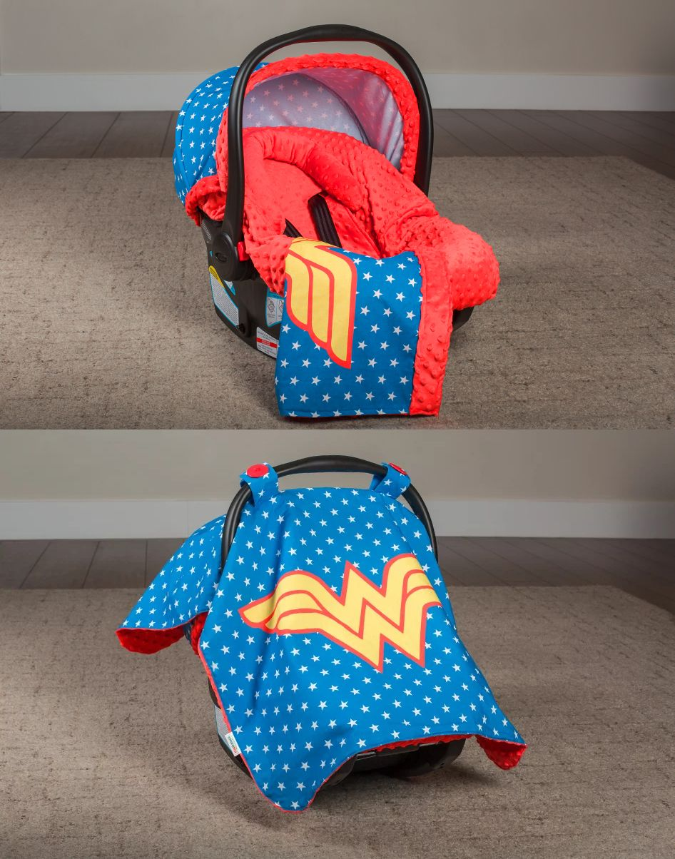Car Seat Accessories 66693 Wonder Woman Whole Caboodle Cover 5 Pc Set Year Round Use Baby Infant BUY IT NOW ONLY 6999 On EBay